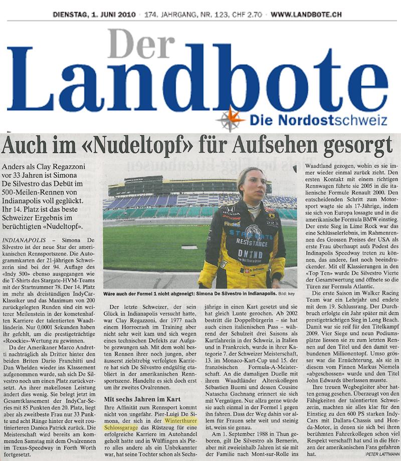 Zeitungsberichte und Medienerwähungen der Schloss-Garage ...